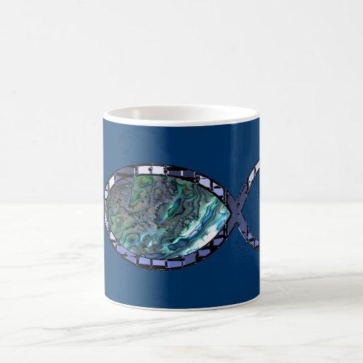 Radiant Christian Fish Symbol Coffee Mug