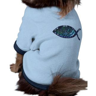 Radiant Christian Fish Symbol Dog Tee Shirt