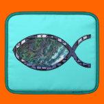 Radiant Christian Fish Symbol iPad Sleeves