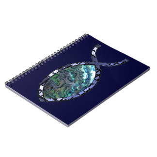 Radiant Christian Fish Symbol Notebook
