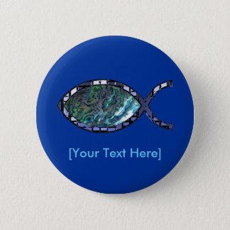 Radiant Christian Fish Symbol Pinback Button