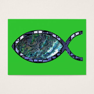 Radiant Christian Fish Symbol Tract Card /