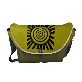 Radiant Circles Rickshaw Messenger Bag Greeny