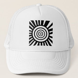 Radiant Circles Trucker Hat White