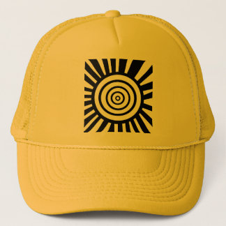 Radiant Circles Trucker Hat Yellow