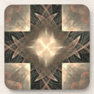 Radiant Cross Beverage Coaster