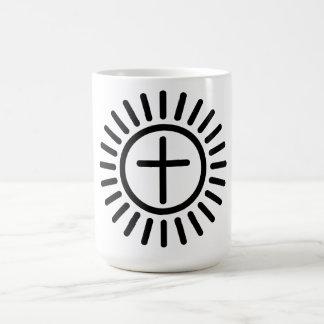 Radiant Cross Classic White Coffee Mug
