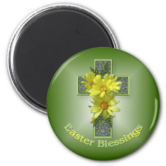 Radiant Daisies Easter Blessings Magnet