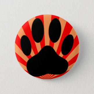 Radiant Dog Paw Print Button