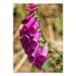 Radiant Flowers of the Foxglove Posters
