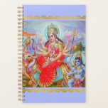 "Radiant Goddess Durga Ji Painting Planner<br><div class=""desc"">Let blessed Devi Durga Ji help you keep life and household organized with this artistic Hindu goddess planner calendar. Share the blessings of Durga, the all powerful goddess. Durga is the principal form of the Goddess, also known as Devi and Shakti in Hinduism. Durga the mahashakti, the form and formless,...</div>"