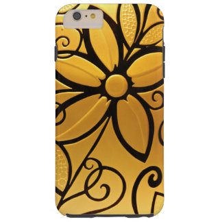 Radiant Golden Yellow Floral Design Tough iPhone 6 Plus Case