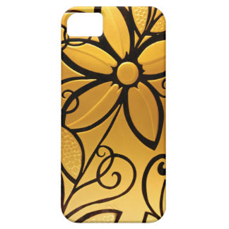 Radiant Golden Yellow Floral Design iPhone SE/5/5s Case