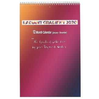 Radiant Gradient 2020 Calendar