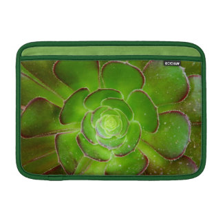 Radiant green succulent plant macro photography MacBook air sleeve
