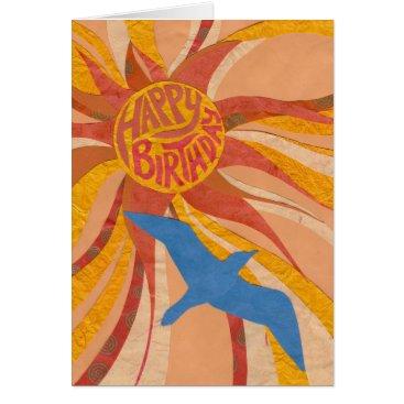 Beach Themed Radiant Happy Birthday Sun Card