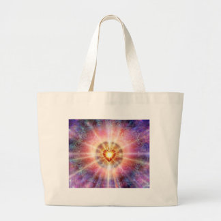 Radiant Heart Tote Bags