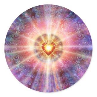 Radiant Heart Round Stickers