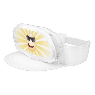 "Radiant ""Joe Cool"" Funny Face Pouch Visor"