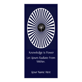 Radiant Knowledge Book Mark Rack Card Template