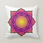 Radiant Lotus Flower Throw Pillow