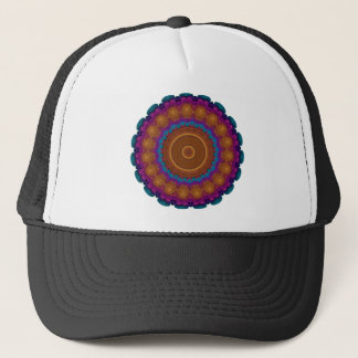 Radiant Neon Wreath Kaleidoscope Mandala Trucker Hat