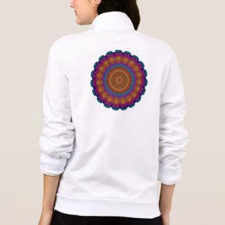 Radiant Neon Wreath Kaleidoscope Mandala Printed Jackets