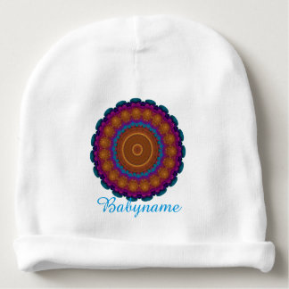Radiant Neon Wreath Kaleidoscope Personalized Baby Beanie