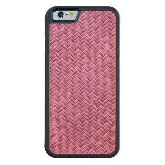 Radiant Orchid Basket Weave Geometric Pattern Carved® Maple iPhone 6 Bumper Case