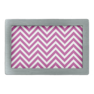 Radiant Orchid Chevron Pattern Purple White Modern Rectangular Belt Buckle