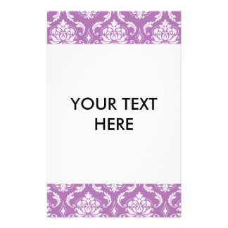 Radiant Orchid Classic Damask Pattern Flyers