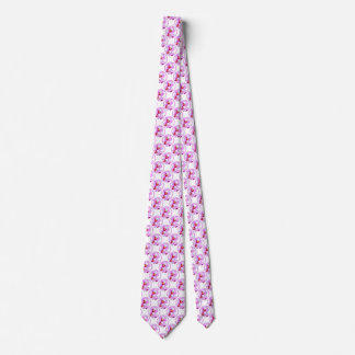 Radiant Orchid Closeup Photo with Circular Frame Tie