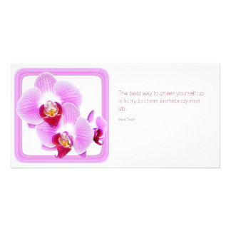 Radiant Orchid Closeup Photo with Quote Card
