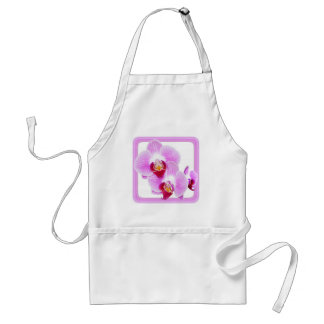 Radiant Orchid Closeup Photo with Square Frame Adult Apron