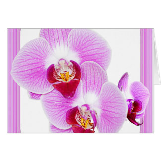 Radiant Orchid Closeup Photo with Square Frame Card