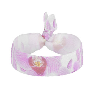 Radiant Orchid Closeup Photo with Square Frame Hair Tie