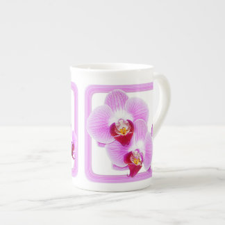 Radiant Orchid Closeup Photo with Square Frame Porcelain Mug