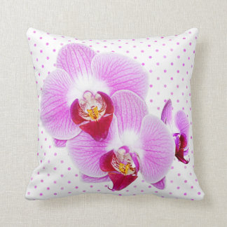 Radiant Orchid Closeup Photograph Throw Pillow