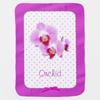 Radiant Orchid Closeup Photograph Stroller Blanket