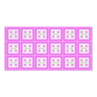 Radiant Orchid Closeup Square Kaleidoscope Pattern Card