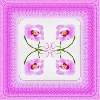 Radiant Orchid Closeup Square Kaleidoscope Pattern Cutout
