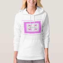 Radiant Orchid Closeup Square Kaleidoscope Pattern Hoodie