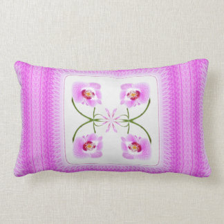 Radiant Orchid Closeup Square Kaleidoscope Pattern Throw Pillows