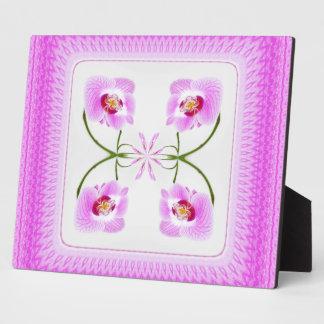 Radiant Orchid Closeup Square Kaleidoscope Pattern Plaque