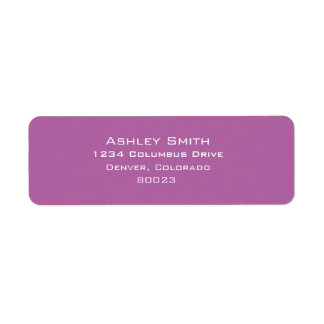 Radiant orchid color of 2014 label