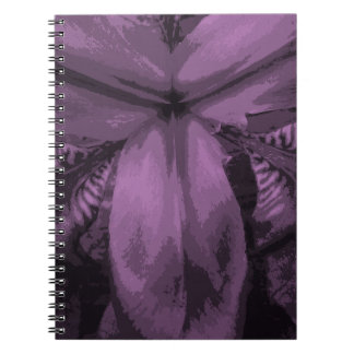 """""""Radiant Orchid"""" Colored Siberian Iris Notebook"""