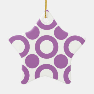 Radiant Orchid Dot 3 Christmas Tree Ornaments