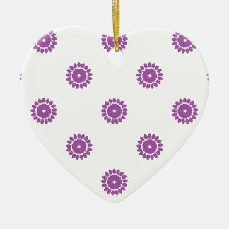 Radiant Orchid Flower Pattern 4 Ornaments