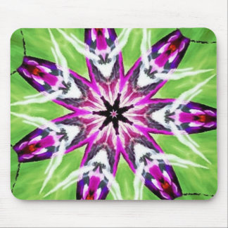 Radiant Orchid Garden Kaleidoscope Mouse Pad