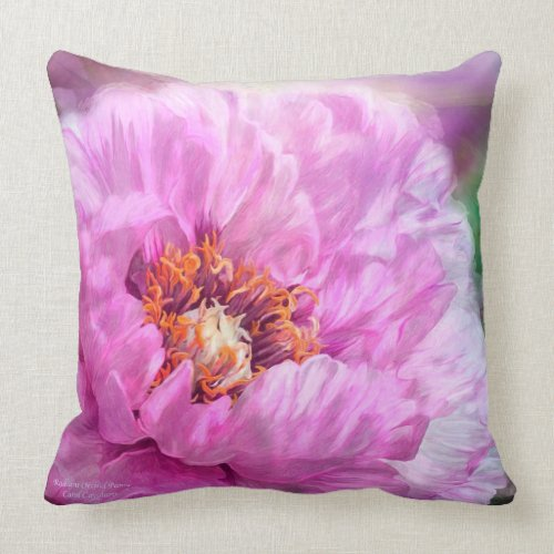 Orchid Peony Art Decorator Pillow